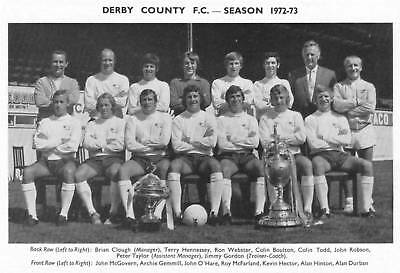DERBY COUNTY FOOTBALL TEAM PHOTO>1972-73 SEASON