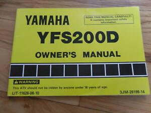 1991 1992 yamaha yfs200 owners manual yfs 200 d ebay. Black Bedroom Furniture Sets. Home Design Ideas