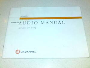 ORIGINAL-VAUXHALL-AUDIO-MANUAL-TS-1284-A-97