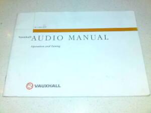 ORIGINAL-VAUXHALL-AUDIO-MANUAL-TS-1284-A-97