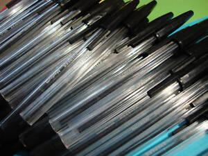 100-x-Black-Ballpoint-Pens-Bulk-Clearance-Job-Lot