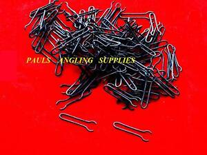 100-Carp-Fishing-MATT-BLACK-Lead-Mould-Clips-Loops