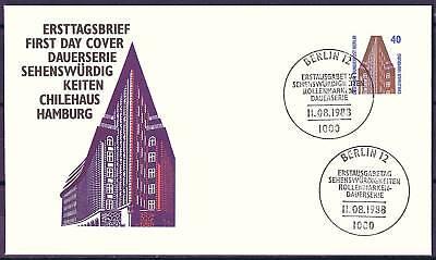 Berlin 1988: Chilehaus in Hamburg! Sehenswürdigkeiten! FDC der Nr. 816! 1701