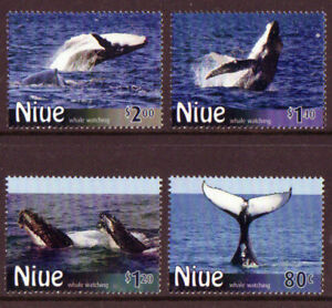NEW-ZEALAND-2010-NIUE-WHALES-SET-OF-4-UNMOUNTED-MINT