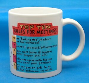 Top ten rules for meetings coffee mug ebay Top 10 coffee mugs