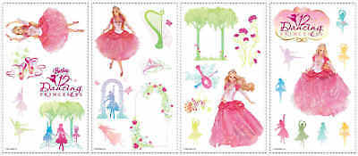 Barbie Doll 12 Dancing Princess Removable Wall Room Decor Appliques Stickers