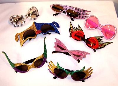 6 Pair Crazy Party Glasses Parties Supplies Costumes
