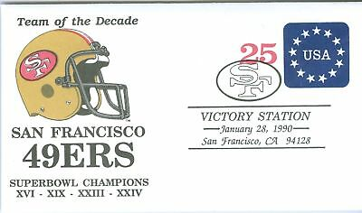 S.F. 49ERS 1990 COMMEMORATIVE ENVELOPE SUPERBOWL
