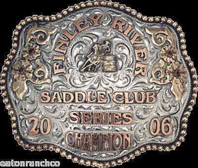 Award Clint Mortenson Custom Rodeo Trophy Belt Buckle