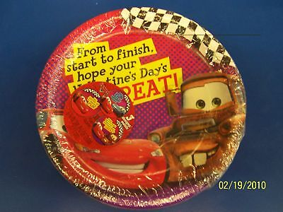 Disney's Cars Valentine's Day Party Bulk 7 Plates