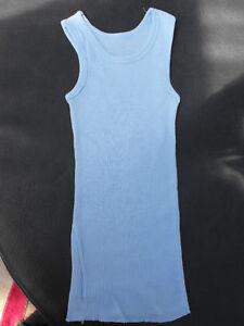 BNWOT Baby Boys Sz 00 BQT Designer Brand Soft Pale Blue Singlet