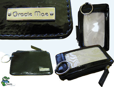 Authentic Gracie Mae By Antler Travel Card Key Ring Black Gloss