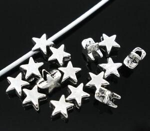200-X-TIBETAN-SILVER-STAR-SHAPE-SPACER-BEADS-6MM-06054