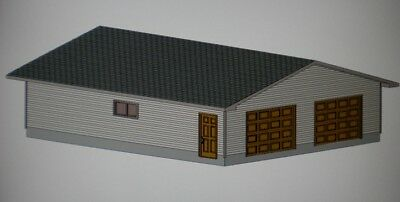 30' X 36' GARAGE SHOP PLANS MATERIALS LIST & BLUEPRINTS PLAN #1009A
