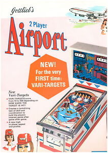 PUBLICITE DE FLIPPER GOTTLIEB AIRPORT