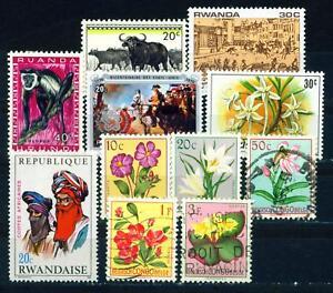 Rwanda African Life set 1960s