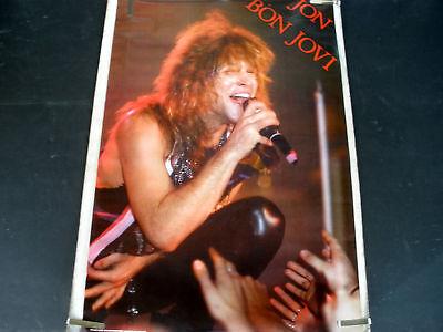 RARE JON BON JOVI 1987 VINTAGE ORIGINAL MUSIC POSTER