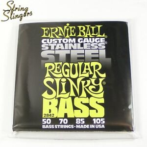 Ernie Ball 2842 Stainless Steel Regular Slinky 4-String Bass strings 50-105