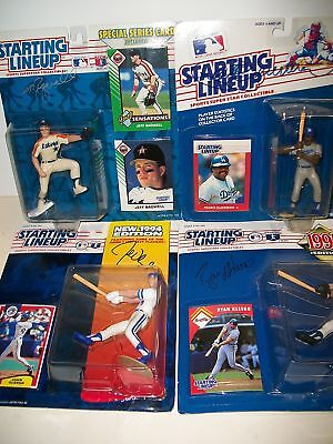 4 Autographed Mlb Starting Lineup Figures