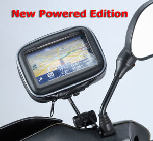 Me Mm Wpcs B6 Powered Motorcycle Mirror Mount For Garmin