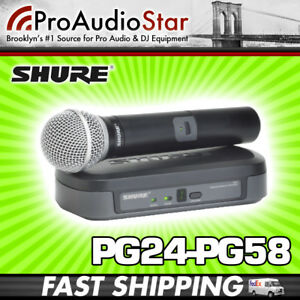 Shure-PG24-PG58-Wireless-Vocal-Mic-System-PG24PG58