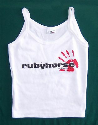 RUBYHORSE! MINI HUMMER WHT GIRLS CAMISOLE SHIRT M NEW