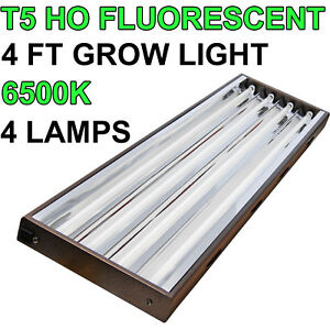 vg 44 t5 ho grow light 48 4 ft 4x 54w lamp 6500k bulbs. Black Bedroom Furniture Sets. Home Design Ideas