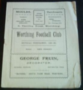 WORTHING-v-LLOYDS-BANK-1933-34-AFA-CUP-VERY-RARE