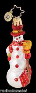 RADKO-Little-Gem-SNOWTIME-Snowman-ornament-NEW