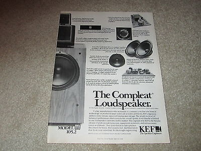 KEF 105.2 Speaker Ad, 1983, Reference! 1 pg, Articles