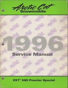 1996 ARCTIC CAT SNOWMOBILE EXT 580 POWDER SERVICE