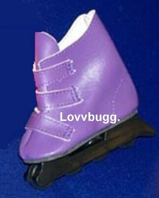 "Lovvbugg Purple Skates Roller Blades for 18"" American Girl or Bitty Baby Doll Shoes Clothes"