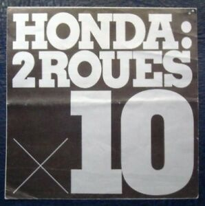 HONDA-MOTORCYCLE-RANGE-BROCHURE-C-1970-FRENCH-TEXT