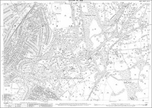 Tunbridge Wells central old OS Kent map 60121909 repro eBay