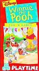 Winnie the Pooh - Pooh Playtime - Fun N Games (VHS, 1995)