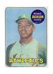 1969 Topps Reggie Jackson Oakland Athletics 260 Baseball Card