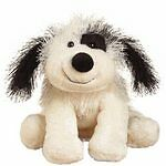 Webkinz Black and White Cheeky Dog With Unused Code