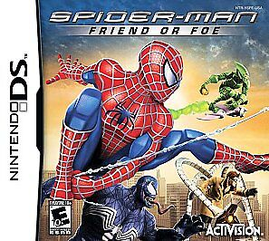 RARE-NINTENDO-DS-SPIDER-MAN-FRIEND-OR-FOE-GAME-COMPLETE-W-MANUAL-CASE-TESTED