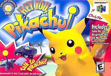 Hey You Pikachu Nintendo 64 N64 Video Game Cart Kids OEM Original Retro Pokemon