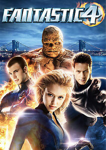 Fantastic-Four-DVD-2005-Full-Screen-CHRIS-EVANS-JESSICA-ALBA-MINT-DISC