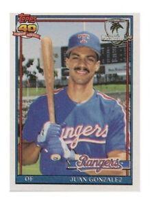 1991 Topps Juan Gonzalez Texas Rangers 224 Baseball Card