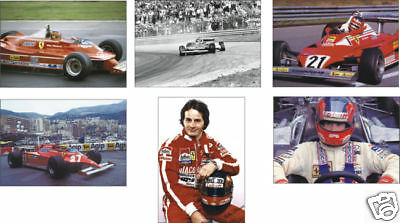 Gilles Villeneuve F1 Formula One Legend POSTCARD Set
