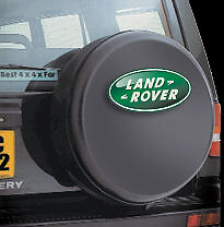 LAND ROVER RANGE DISCOVERY 4x4 spare wheel cover BLACK WITH LOGO