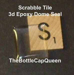 100 3d Epoxy Dome Scrabble Tile Seals DIY Altered Art