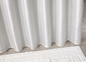 Textile rideau de douche blanc motifs 120x200 cm toqu rideau de salle de bai - Textile salle de bain ...