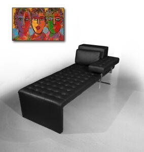bauhaus leder daybed chaiselongue anilin leder liege. Black Bedroom Furniture Sets. Home Design Ideas
