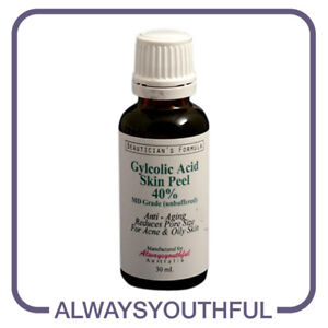 Glycolic Acid Skin Peel MD Grade - 40% Unbuffered 30ml