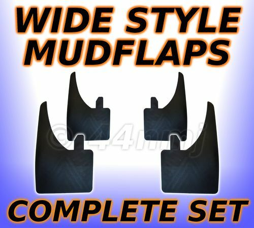 4x WIDE Rubber Mud Flaps FRONT & REAR Mudflaps Universal Fitting Full Set