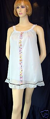 Vintage Babydoll Nighty Original 1960's Retro Silky Nylon Nightwear Glamour