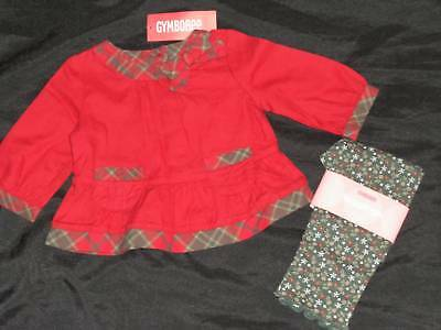 Girl's Gymboree Mountain Cabin 6 12 Green Leggings Red Top Shirt Lot Plaid